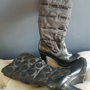 Coach waterproof dress boots